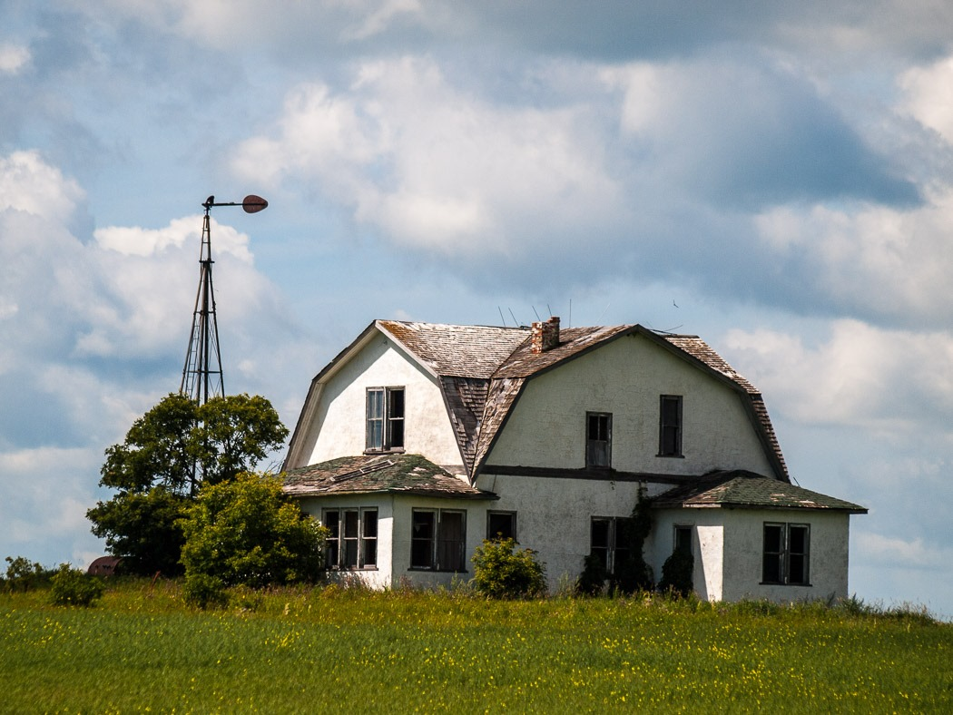 Old Farmhouse called Poverty Hill near Ninette, Manitoba