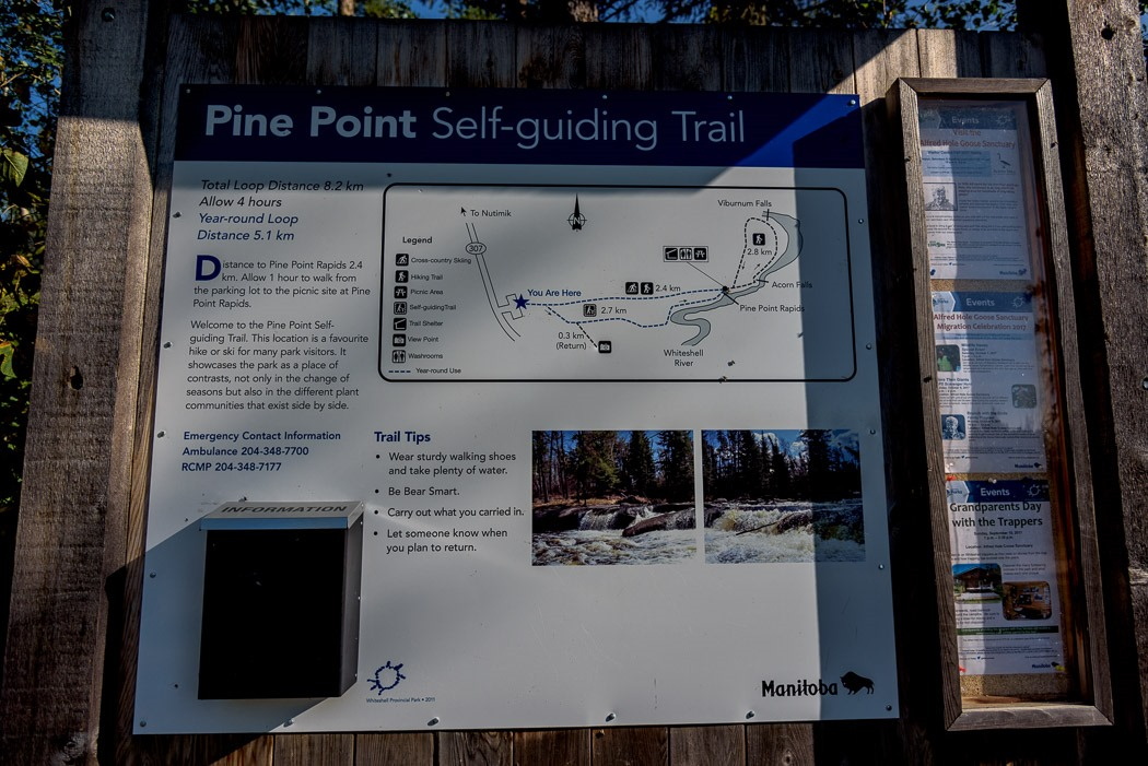 Pine Point Self-Guiding Trail, Rapids and Falls.